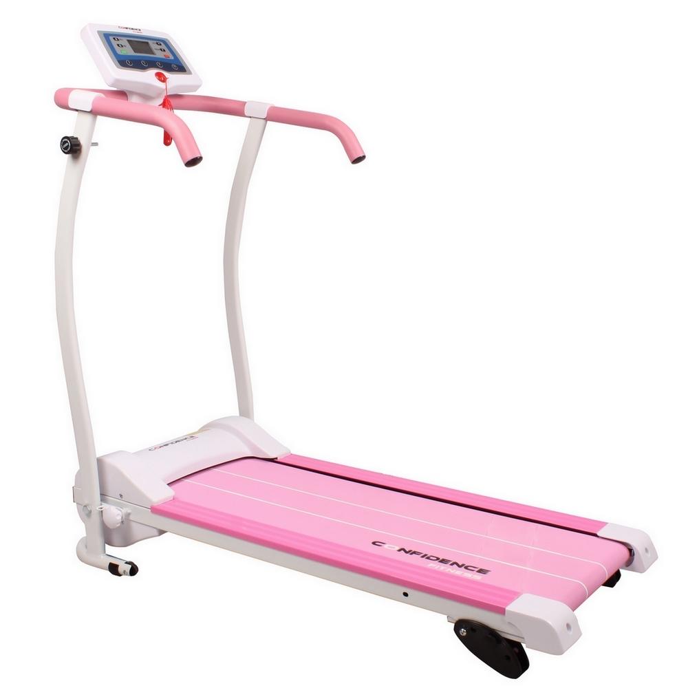Confidence power trac pro motorized electric treadmill for Best non motorized treadmill