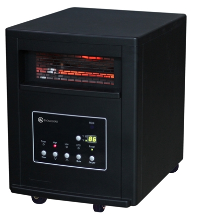 Homegear Compact 1500W Infrared Quartz Heater