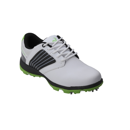 Woodworm Player V2 Leather Golf Shoes White/Neon