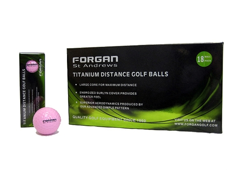 36 Forgan Golf Titanium Distance Golf Balls PINK