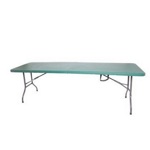 Palm Springs Outdoor Palm Springs Portable 8' Plastic Banquet Table GREEN - Folds in Half