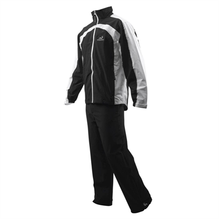 Woodworm Waterproof Mens Golf Rainsuit Black/White