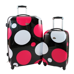 Swiss Case 4 Wheel 2pc Suitcase Set DISCO