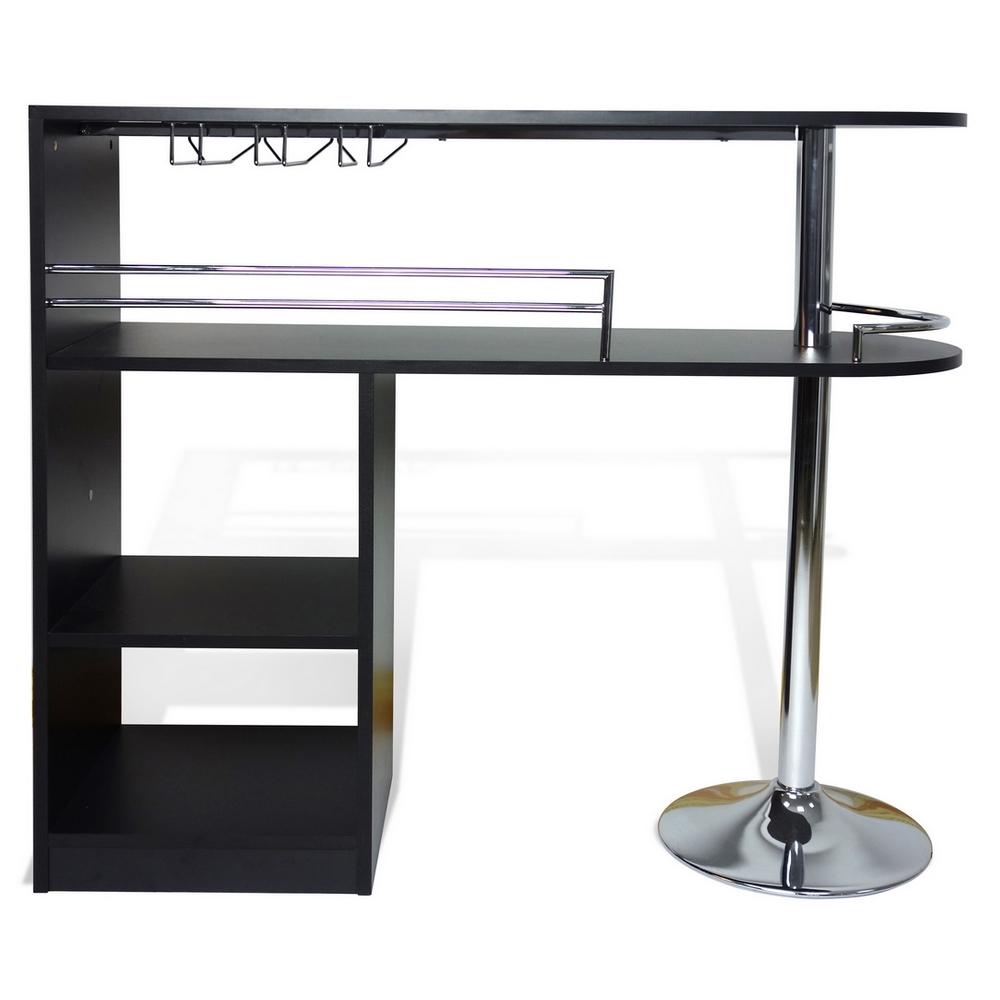 homegear kitchen cocktail bar table black ebay