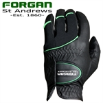 2 Forgan of St Andrews MENS AW Golf Gloves BLACK