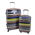 Swiss Case 4 Wheel 2pc Suitcase Set TECHNICOLOR