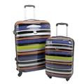 Swiss Case 4 Wheel 2pc Suitcase Set TECHNICOLOR