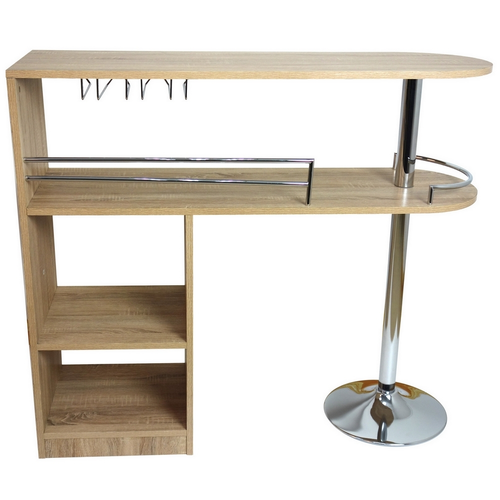 Homegear Kitchen Cocktail Bar Unit / Table - Oak