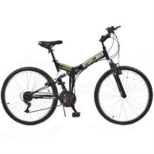 Stowabike Folding MTB V2 Mountain Bike Black/Green