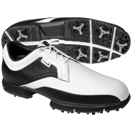 Nike Mens Tour Premium White/Gunmetal Golf Shoes