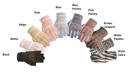 HJ Ladies Fashion Solaire 1/2 Finger Golf Glove