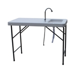 Palm Springs Fish Fillet Table With 1.5 Gal Sink