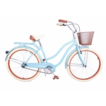 "Royal London Retro 18"" Cruiser Bike with Basket"
