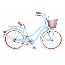 "Royal London Retro 18"" Cruiser Bike with Basket"