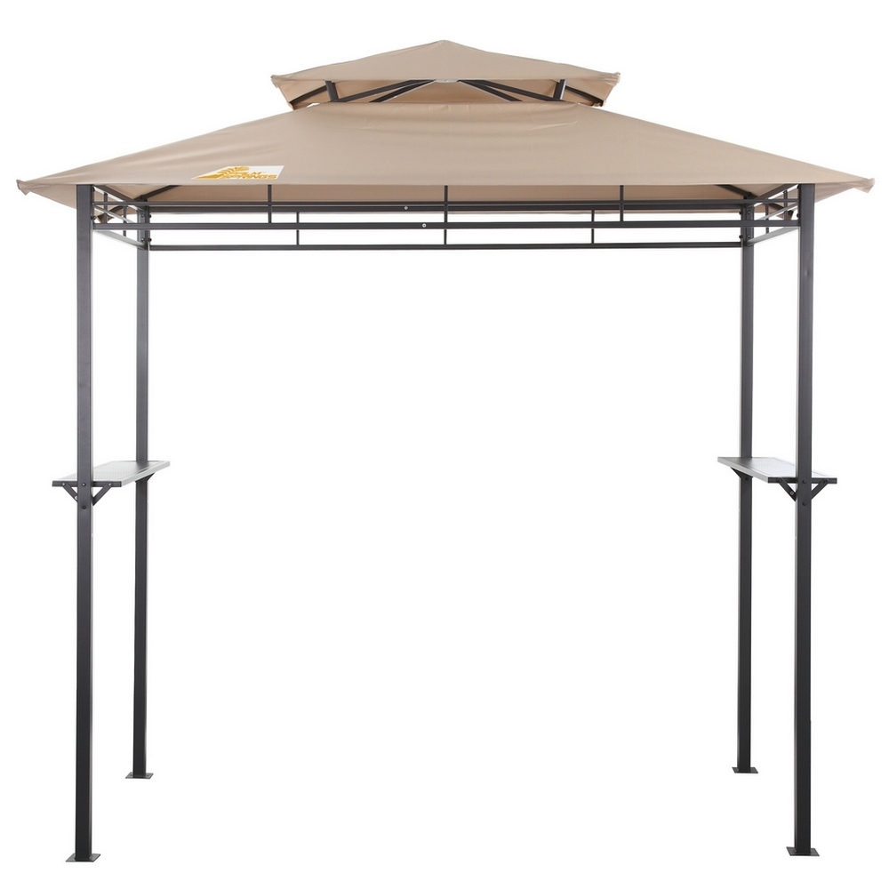 palm springs deluxe 8ft double tier barbecue canopy bbq grill tent ebay. Black Bedroom Furniture Sets. Home Design Ideas