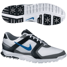 Nike Men's Air Range WP Golf Shoes White/Blue