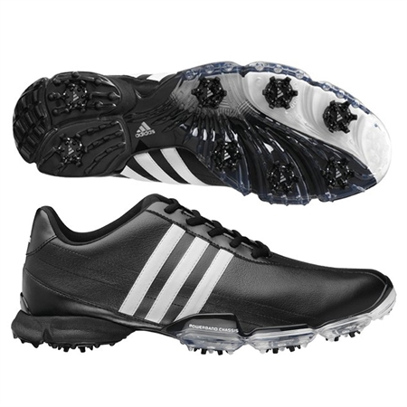 Adidas Men's Powerband Grind Golf Shoes in BLACK