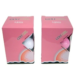 GOLF GIRL Titanium 12 Golf Balls in White or Pink