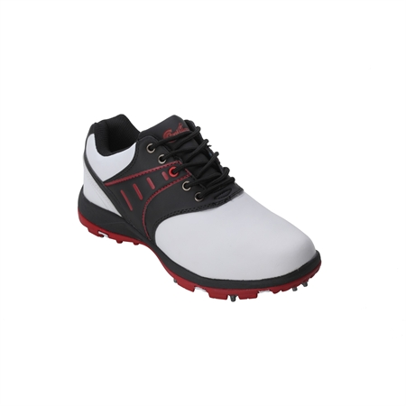Confidence Golf V3 Leather Golf Shoes White/Black