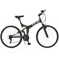 Stowabike Folding MTB V2 Mountain Bike Black/Green