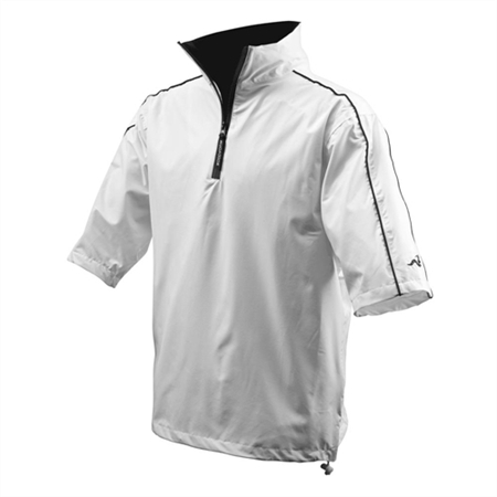 Woodworm Half-Sleeve Waterproof Rain Jacket WHITE